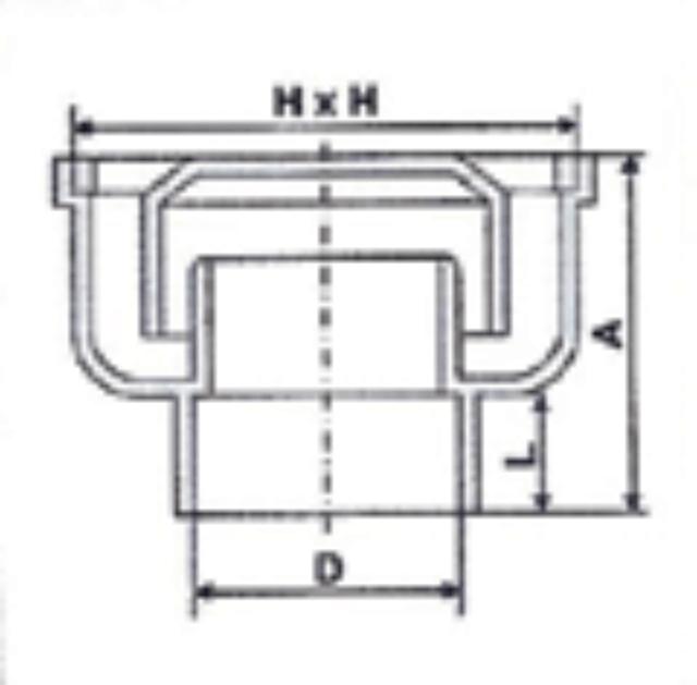 No. 02 UPVC Balcony Outlet - Diagram