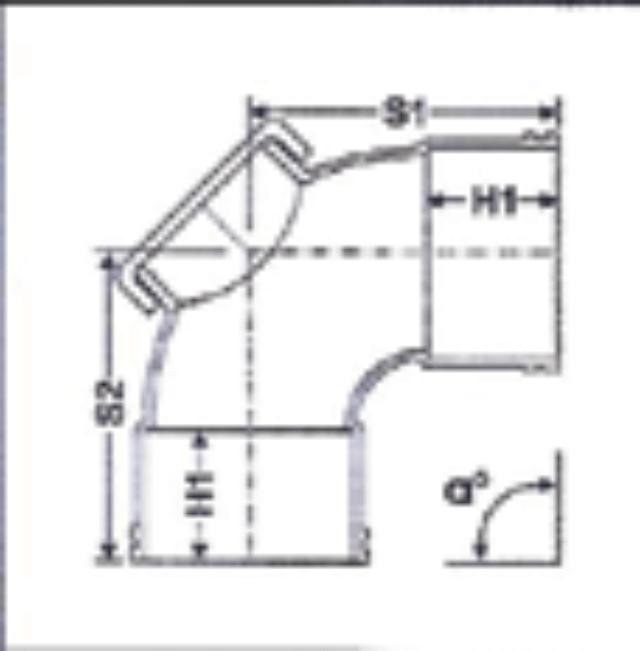No. 07 UPVC Door Elbow - Diagram