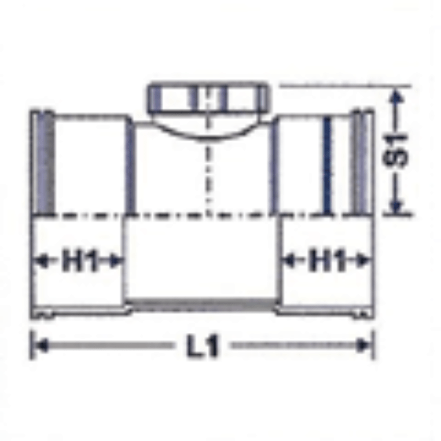 No. 08 UPVC Door Socket - Diagram