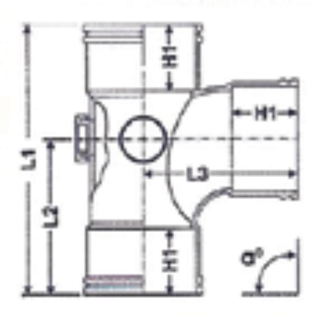 No. 09 UPVC Door Tee - Diagram