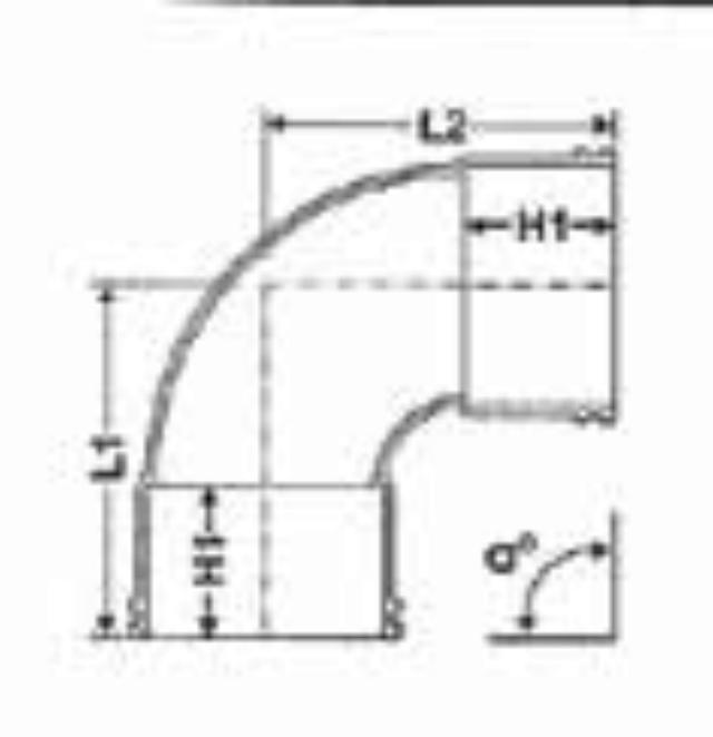 No. 11 UPVC Elbow - Diagram