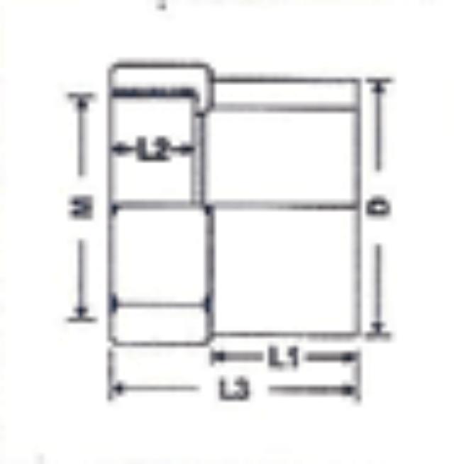 No. 17 UPVC Female Socket - Diagram
