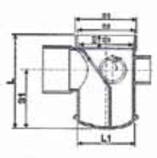 No. 18 UPVC Floor Trap - T/Type - Diagram