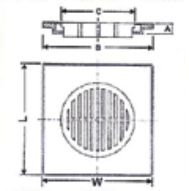 No. 19 UPVC F.Trap Cover H.D. & UPVC F.Trap Cover L/D - Diagram