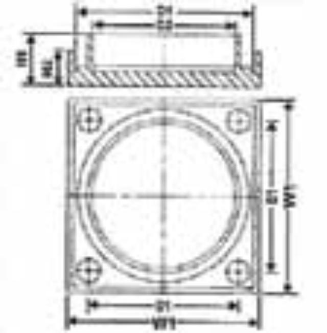 No. 28 UPVC Rodding Eye Cover - Diagram
