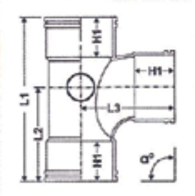 No. 32 UPVC Tee - Diagram