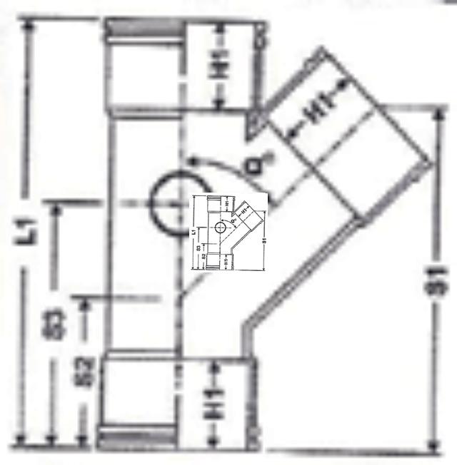 No. 34 UPVC Yee - Diagram