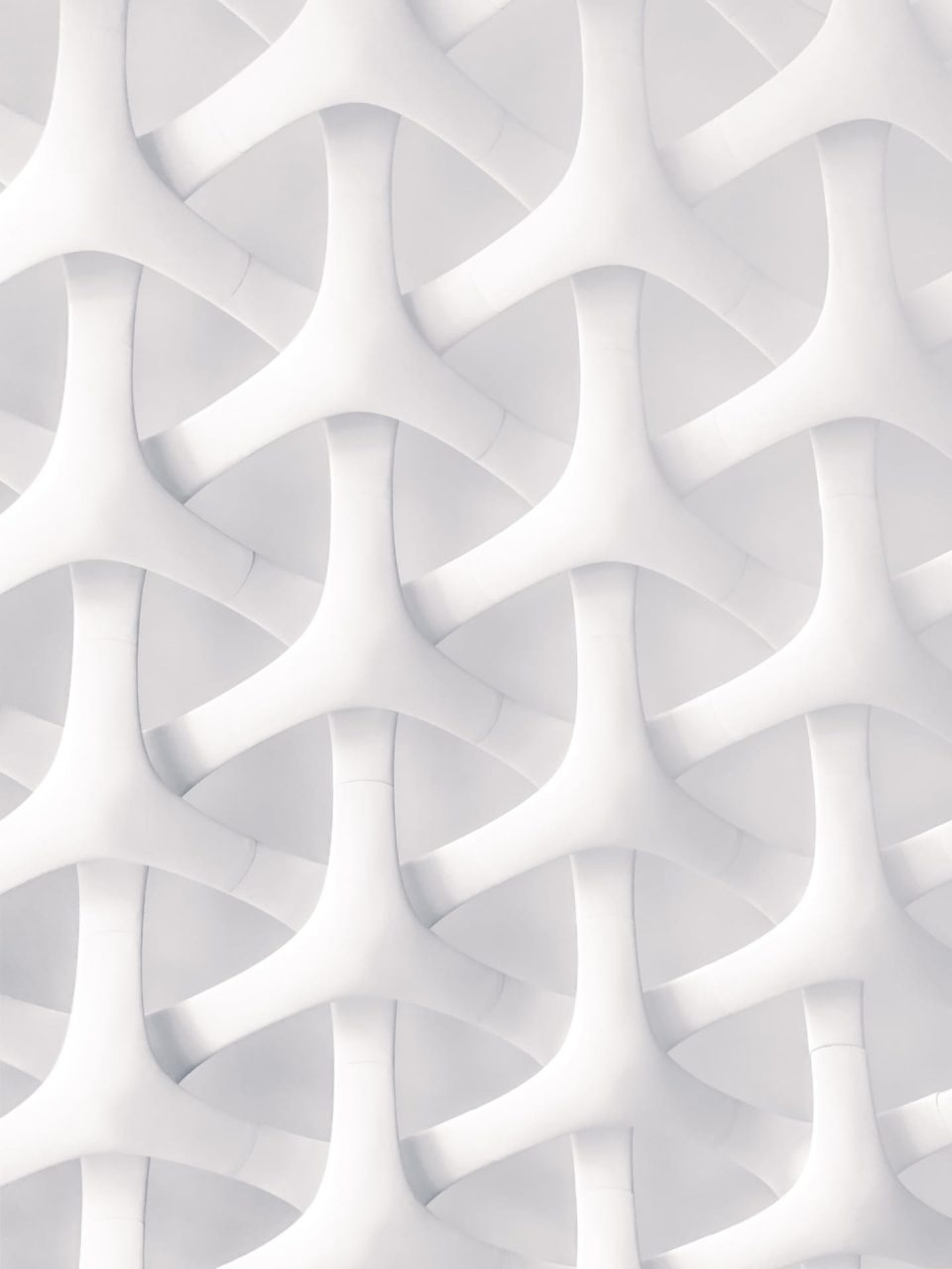 Random pattern of white vPCV strips.