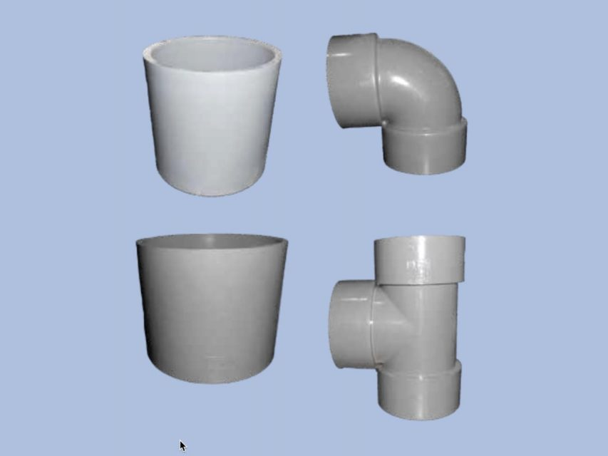 Group of uPVC Japan or Thailand Standard Fittings by Juma Plastic, Dubai UAE.