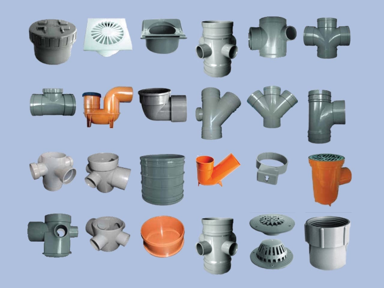 Group of uPVC Solvent Fittings by Juma Plastic, Dubai UAE.