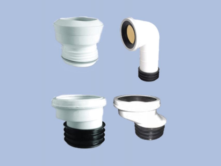 Group of uPVC WC Connectors by Juma Plastic, Dubai UAE.