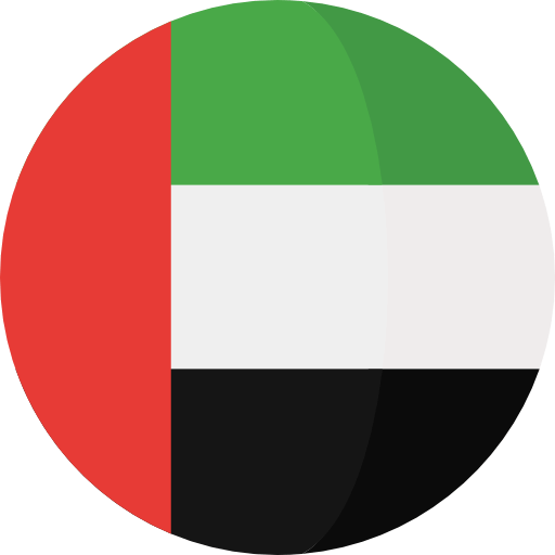Clrcular flag of the United Arab Emirates.